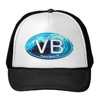 VB Virginia Beach Wave Oval Trucker Hat
