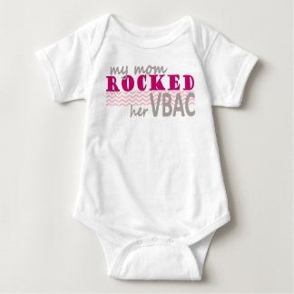 VBAC Baby Bodysuit with Pink Design