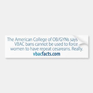 VBAC: Los hospitales no pueden forzar cesareans Pegatina Para Auto