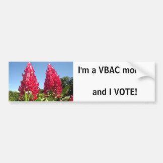 VBAC mom - I VOTE! bumpersticker Bumper Sticker
