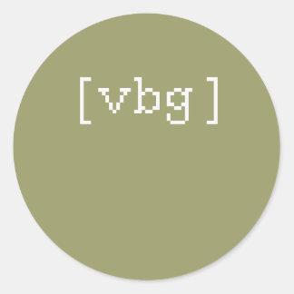 Vbg/Vf Etiqueta Redonda