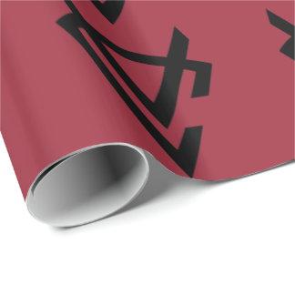 VC papel de embalaje del logotipo de la insignia Papel De Regalo