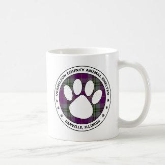 VCAS Logo #58 - Black & White w Purple & Grn Plaid Classic White Coffee Mug