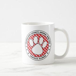 VCAS Logo #64 - Black & White w Red & White Plaid Classic White Coffee Mug