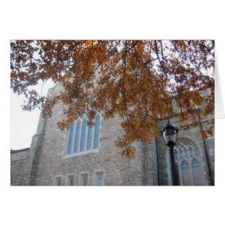 VCC con las hojas del roble del otoño Tarjeta De Felicitación