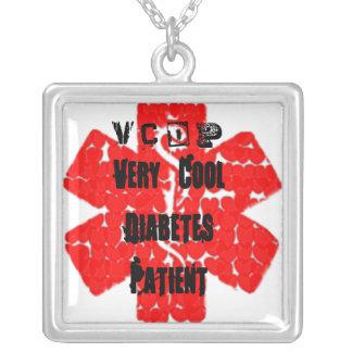 VCDP Very Cool Diabetes Patient Square Pendant Necklace