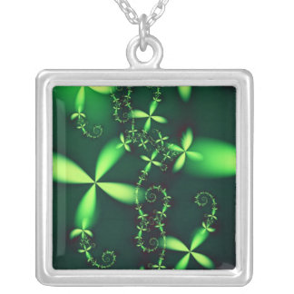 Vchira523 Square Pendant Necklace