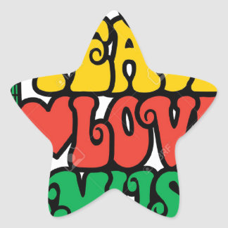 VCVH Love Peace And Music Star Sticker