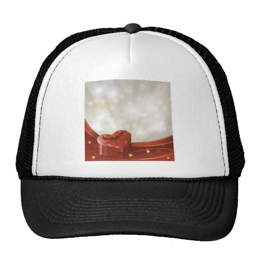 vday5 hears giftbox live red white gifts love mesh hats
