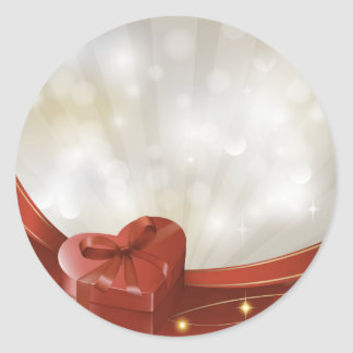 vday5 hears giftbox live red white gifts love classic round sticker