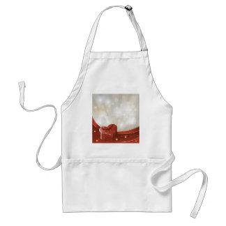 vday5 oye amor blanco rojo vivo de los regalos del delantal