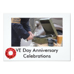 """VE Day celebrations invite 5"""" X 7"""" Invitation Card"""