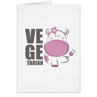 Ve Ge Tarian (Pink Cow) Card