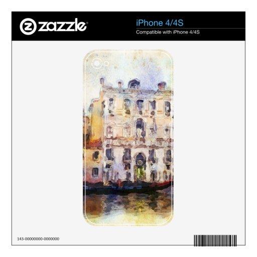 Ve od Venecia hecha en acuarela artística Skins Para eliPhone 4