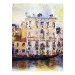 Ve od Venecia hecha en acuarela artística Tarjetas Postales