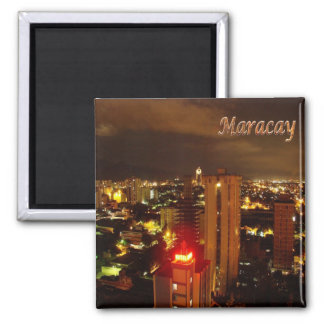 VE - Venezuela - Maracay - By Nigth 2 Inch Square Magnet