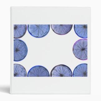 vea a través el marco azul del limón