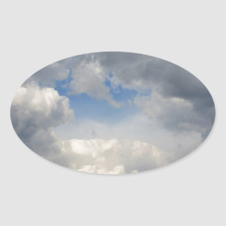 Vea a través pegatina de oval