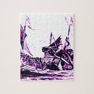 Vea al monstruo de mar puzzle