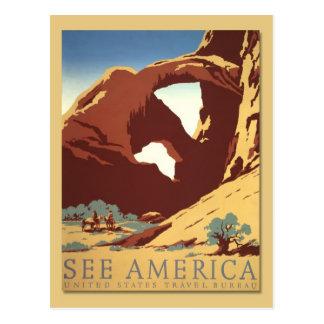 Vea América - los vaqueros y las formaciones de Postales