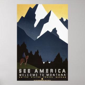 Vea América: Montana Posters