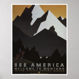 Vea América: Recepción a Montana Póster