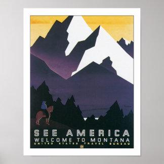 Vea América - recepción a Montana Póster