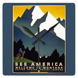 Vea América - recepción a Montana Relojes De Pared
