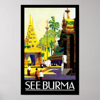 Vea Birmania Póster