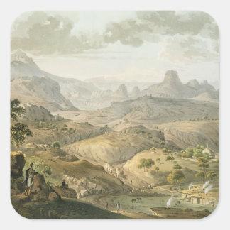Vea cerca del pueblo de Asceriah, en Abyssinia, e Calcomanias Cuadradas