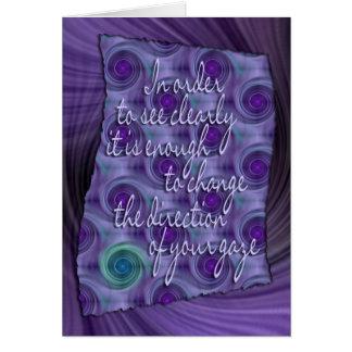 vea claramente - la sabiduría tarjeta de felicitación