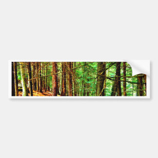 Vea el bosque para los árboles pegatina para auto