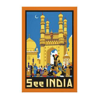Vea el ~ Hyderabad - XL de la India Impresión En Lienzo