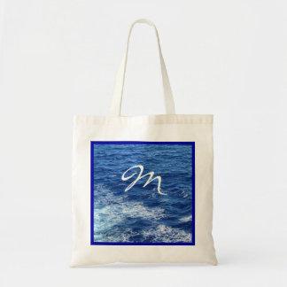 Vea el mar con monograma bolsa tela barata