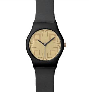 Vea el neutral del reloj del arte abstracto