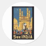 Vea el poster de la India Etiqueta Redonda
