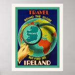 Vea el poster del viaje del irlandés del vintage d