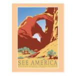 """""""Vea el poster del viaje del vintage de América WP Postales"""