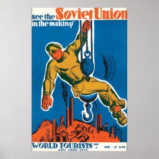 Vea el poster del viaje del vintage de Unión