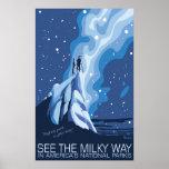 Vea el poster grande de la vía láctea