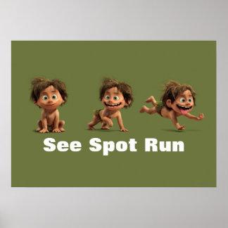 Vea el punto correr póster