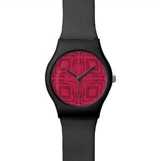 Vea el reloj del arte abstracto May28th del bosque