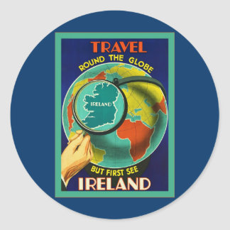 Vea el viaje del irlandés del vintage del ~ de etiqueta redonda