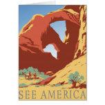 Vea el vintage de América Felicitación