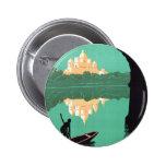 Vea el vintage de Asia del palacio de la India Pin Redondo 5 Cm