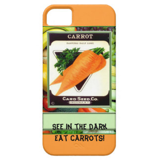 Vea en la oscuridad - coma las zanahorias iPhone 5 coberturas