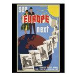 Vea Europa siguiente Postal