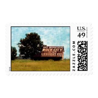 Vea la ciudad de la roca sello postal