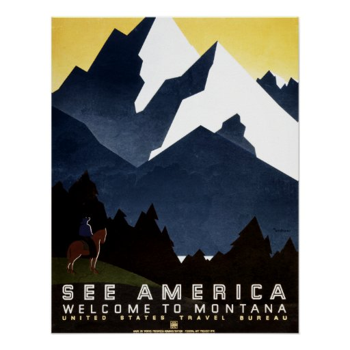 Vea la impresión del poster del vintage de América