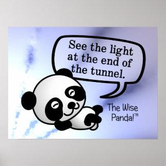 Vea la luz en el extremo del túnel póster